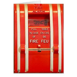 Alarma de incendio tarjeta de felicitación