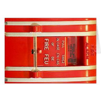 Alarma de incendio tarjeta pequeña