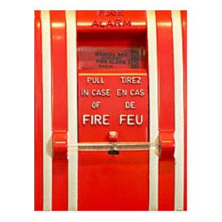Alarma de incendio tarjeta postal