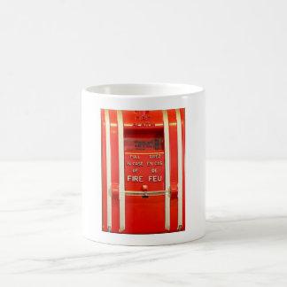 Alarma de incendio taza básica blanca