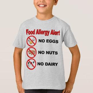 Alarma de la alergia alimentaria camiseta
