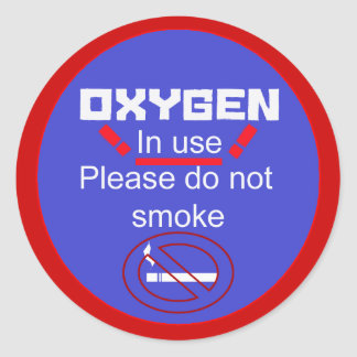 alarma del oxígeno pegatina redonda