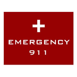 Alarma médica de la emergencia tarjeta postal