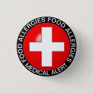 Alarma médica - rojo chapa redonda de 2,5 cm