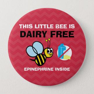 Alarma personalizada abeja libre de la alergia de chapa redonda de 10 cm