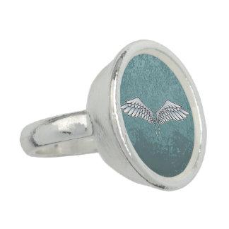 alas Azul-grises Anillo