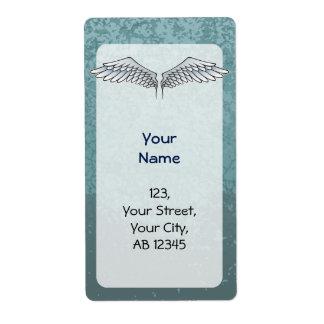 alas Azul-grises Etiqueta De Envío