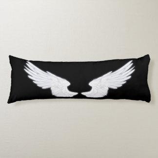 Alas blancas del ángel de Falln Almohada De Cuerpo Entero