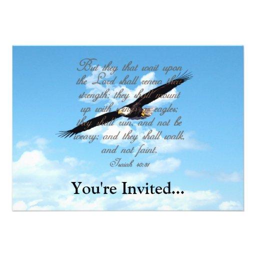 Alas como Eagles, biblia del cristiano del 40:31 d Invitacion Personalizada