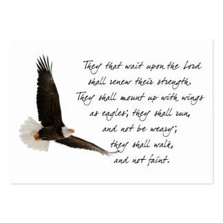 Alas como Eagles Isaías 4o 31 Tarjetas De Visita