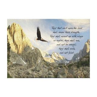 Alas como Eagles Isaías 4o Lienzo