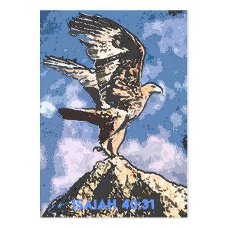 Alas de Eagles - de Isaías del 40:31 de la zona Tarjetas De Visita Grandes