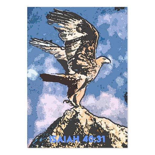 Alas de Eagles - de Isaías del 40:31 de la zona Tarjeta De Visita