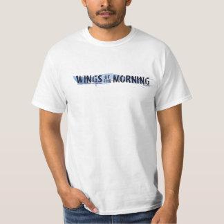Alas de la mañana (raya azul de la pintura simple) camiseta