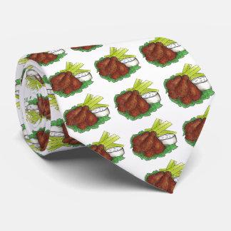 Alas de pollo picantes del búfalo con el lazo de corbatas personalizadas