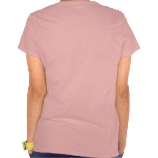 Alas del ángel camiseta (rosada) del frente y de