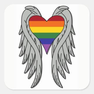 Alas del cambio, gran pegatina del orgullo gay