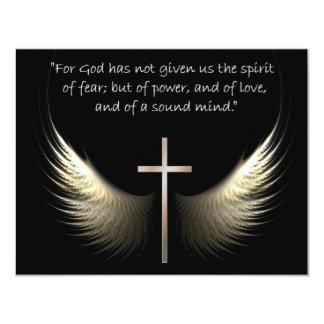 Alas del Espíritu Santo con verso de la cruz y de Invitación 10,8 X 13,9 Cm