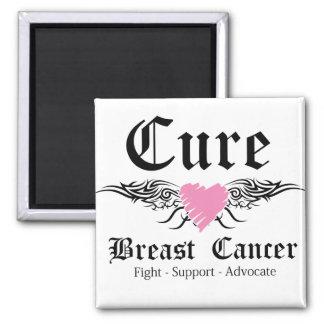 Alas del tatuaje del cáncer de pecho de la imán cuadrado