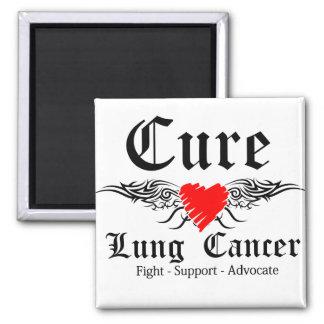 Alas del tatuaje del cáncer de pulmón de la curaci imán cuadrado