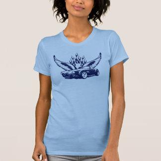 Alas en el ultramarin del coche camisetas