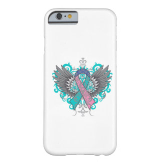 Alas frescas del cáncer de tiroides funda de iPhone 6 barely there