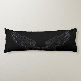 Alas negras del ángel de Falln Almohada De Cuerpo Entero