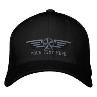 Alas personalizadas del piloto de la insignia de gorra de beisbol bordada