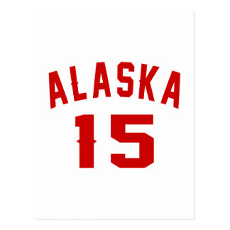 Alaska 15 diseños del cumpleaños postal