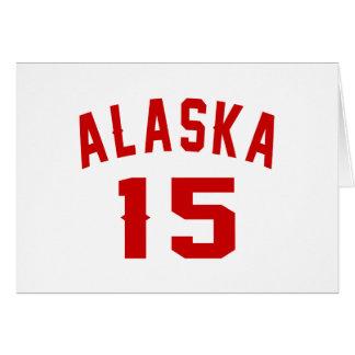Alaska 15 diseños del cumpleaños tarjeta de felicitación