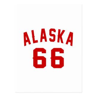 Alaska 66 diseños del cumpleaños postal