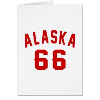 Alaska 66 diseños del cumpleaños tarjeta de felicitación