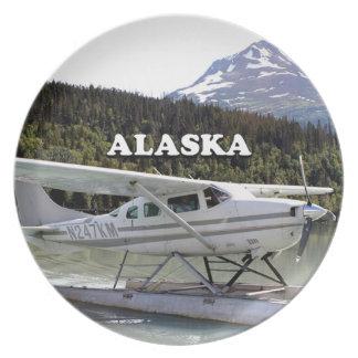 Alaska: Avión del flotador, lago 3 trail Plato