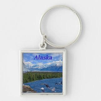 Alaska Llavero Cuadrado Plateado