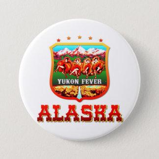 Alaska los E.E.U.U. Chapa Redonda De 7 Cm