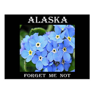 Alaska me olvida no postal