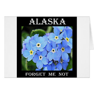 Alaska me olvida no tarjeta de felicitación
