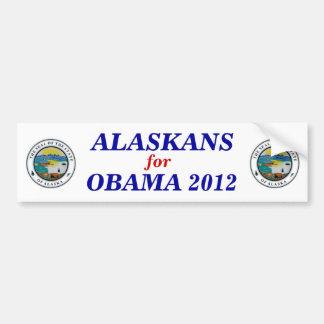 Alaska para el pegatina 2012 de Obama Pegatina Para Coche