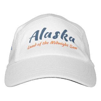 Alaska. Tierra del Sun de medianoche - logotipo Gorra De Alto Rendimiento