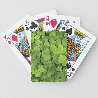 Alazán de madera baraja de cartas