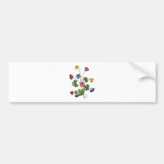 Alazán de madera bordado colorido hermoso pegatina de parachoque