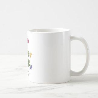 Alazán de madera bordado colorido hermoso taza