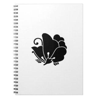 alazán de madera Mariposa-formado Libro De Apuntes