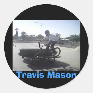 Albañil de Travis Etiquetas Redondas