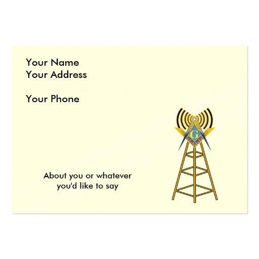 Albañil del equipo de radio-aficionado plantilla de tarjeta de visita