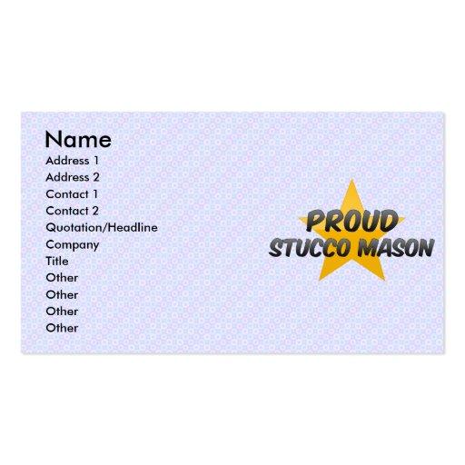Albañil orgulloso del estuco tarjetas de negocios