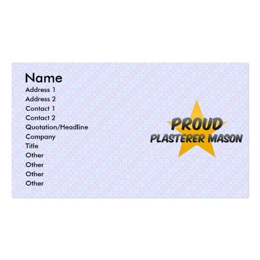 Albañil orgulloso del yesero tarjeta de visita