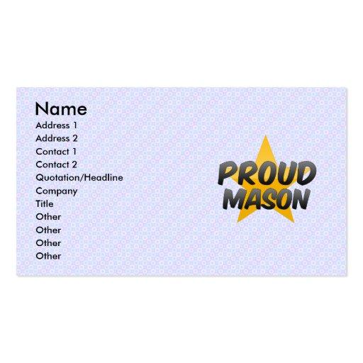 Albañil orgulloso plantilla de tarjeta de negocio