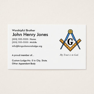 Albañil principal tarjeta de negocios