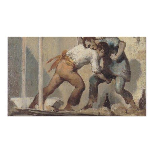 Albañil que lucha de Honore Daumier Plantillas De Tarjeta De Negocio